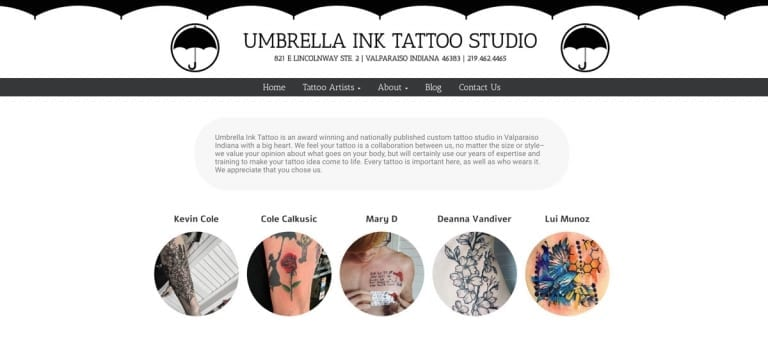 Umbrella Ink Tattoo